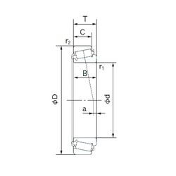 120.650 mm x 206.375 mm x 47.625 mm  NACHI 795/792 Rolamentos de rolos gravados