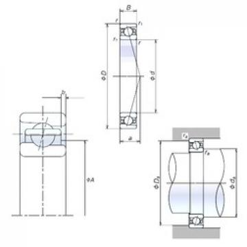 65 mm x 100 mm x 18 mm  NSK 65BNR10S Rolamentos de esferas de contacto angular
