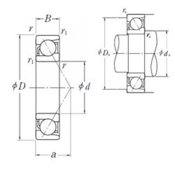 55 mm x 100 mm x 21 mm  NSK 7211 C Rolamentos de esferas de contacto angular