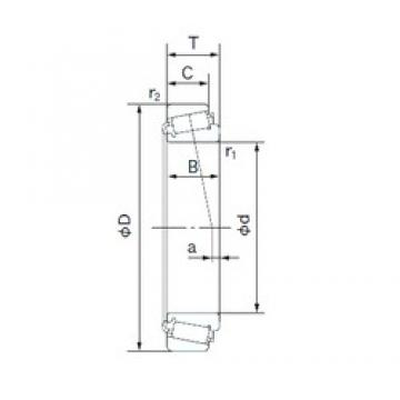 53.975 mm x 104.775 mm x 36.512 mm  NACHI HM807049/HM807010 Rolamentos de rolos gravados